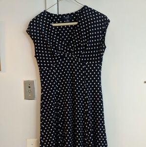 CHAPS Retro Polka Dot Dress Petite Small